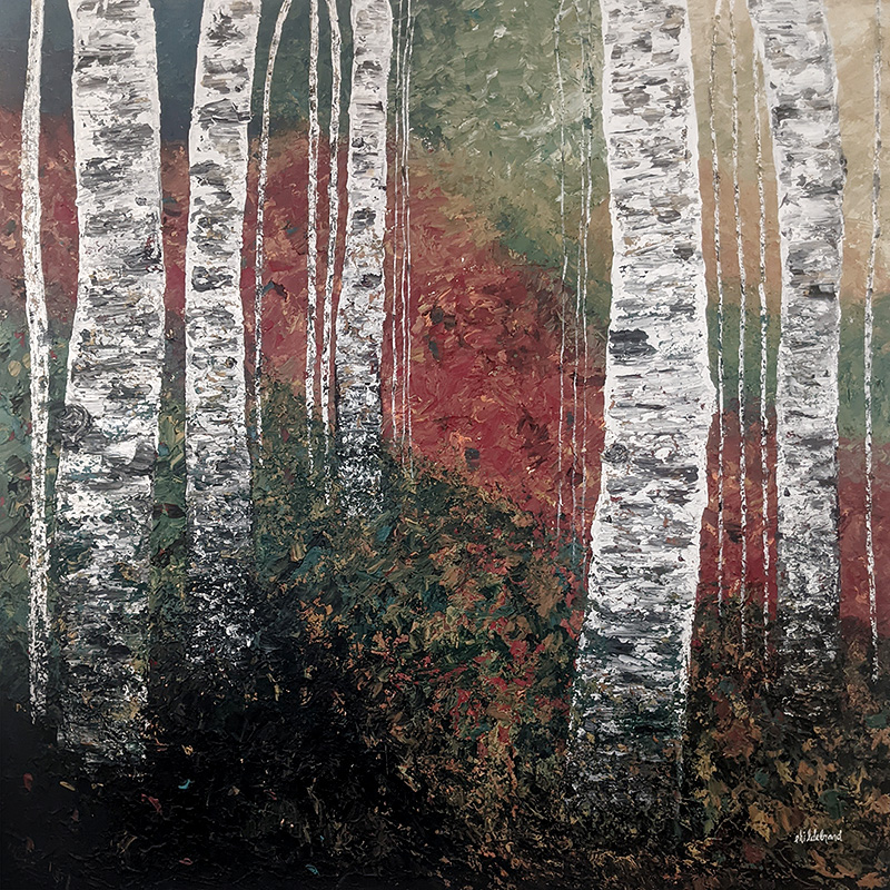 Walking in the Forest by Esther Hildebrand