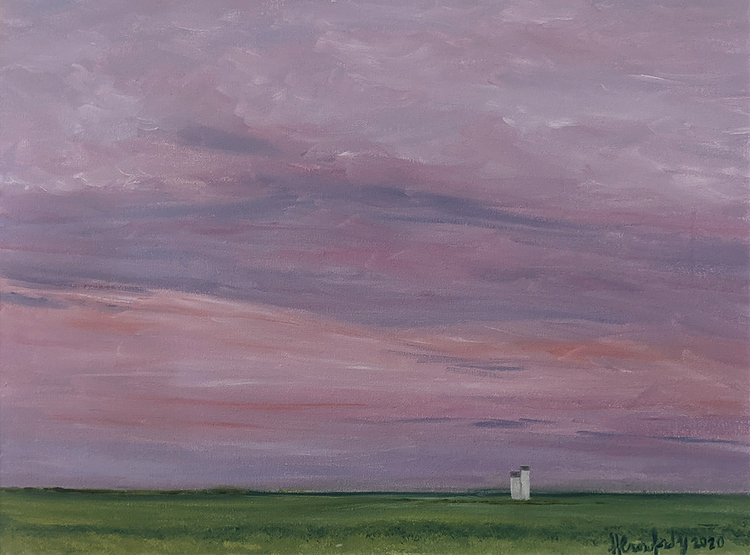 Elevator at Sunset by Susan Crawford-Young