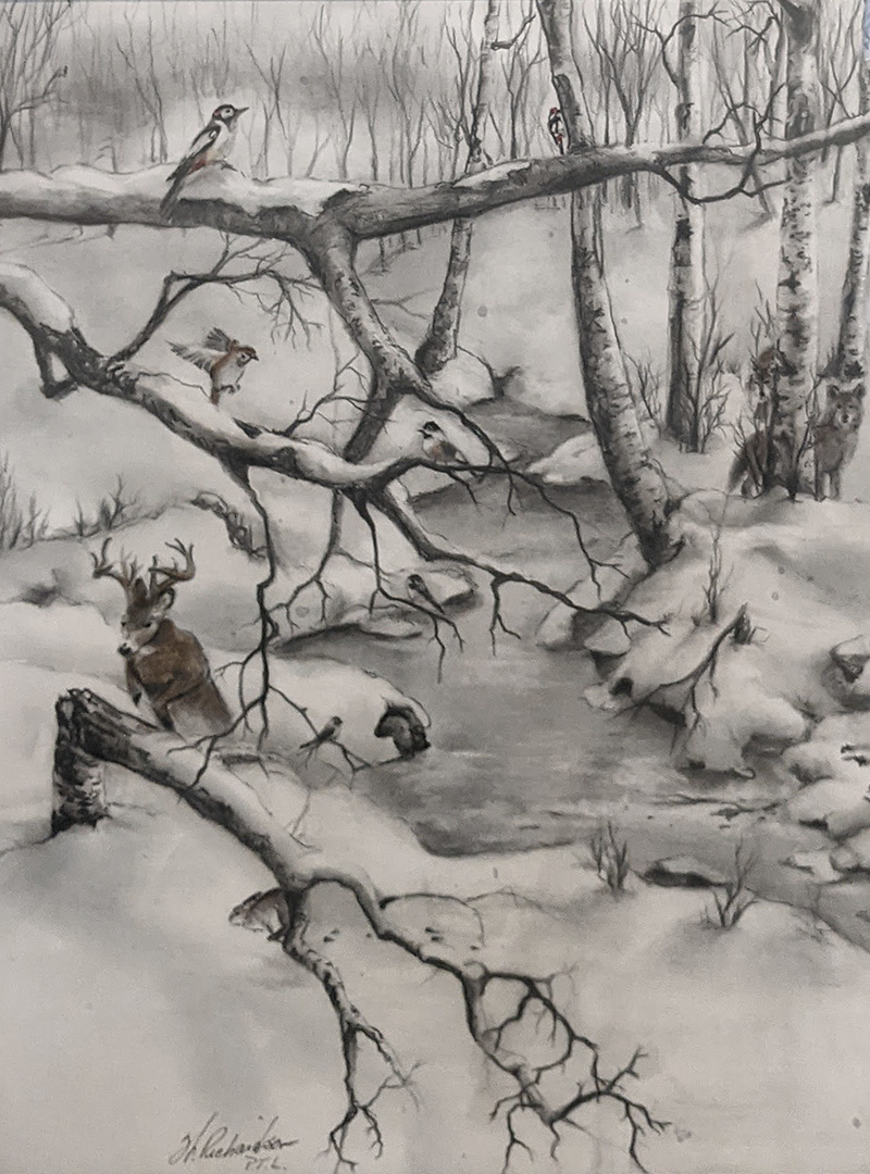 Manitoba Wildlifes, Winter Journey by Willi Richardson